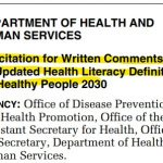YOU can help redefine health literacy