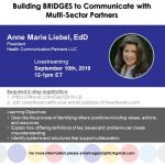 Another free webinar! Building BRIDGES to Communicate with Multi-Sector Partners (Pt 2)